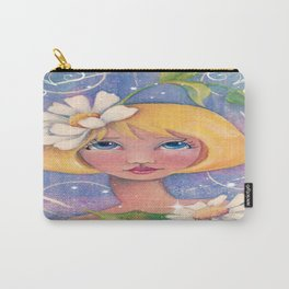 Whimiscal Enchanced Girl with Daisey Carry-All Pouch
