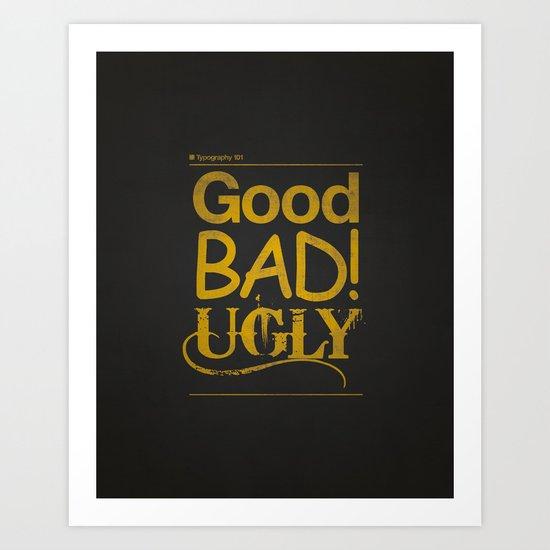 Typography 101 Art Print
