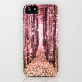 Magical Forest Peachy Pink iPhone Case