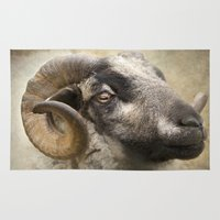 ram Area & Throw Rugs featuring Ram by Pauline Fowler ( Polly470 )