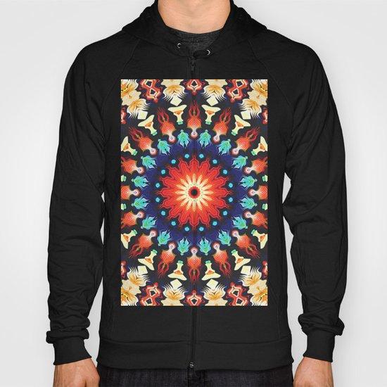 Colorful Mandala Motif Hoody