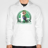 super smash bros Hoodies featuring Luigi - Super Smash Bros. by Donkey Inferno