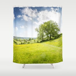 Idyllic Cotswold Summer Landscape Shower Curtain