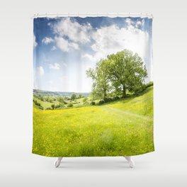 Idyllic Cotswold Summer Landscape Shower Curtain