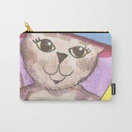 Watercolor Witch Cat Carry-All Pouch