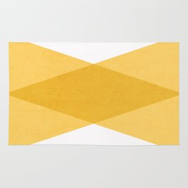 the yellow triangles Rug