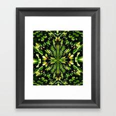 Water Lilies Kaleidoscope  Framed Art Print
