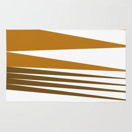 Zigzag ethno Lines -- chocos Rug