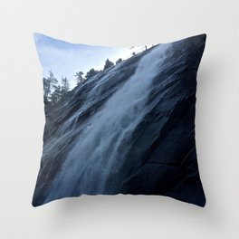 Seattle Waterfall - Perspective Photography Throw Pillow