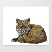 kit king Canvas Prints featuring Fox Kit by ZHField