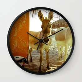 Baby Surfer Dunkeys Wall Clock