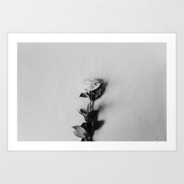 Black & White Minimalist Rose Art Print