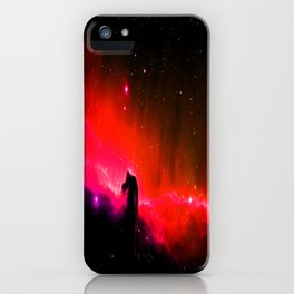 Horsehead NebULa : Coral Red Pink iPhone Case