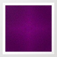 Purple floral Mandalas Art Print