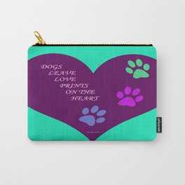 Dogs Leave Love Prints On The Heart By Annie Zeno  Carry-All Pouch