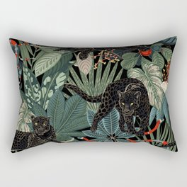 Tropical Black Panther Rectangular Pillow