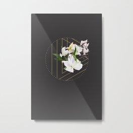 Tropical Flowers & Geometry III Metal Print