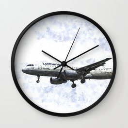 Lufthansa Airbus A320 Art Wall Clock
