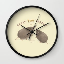Goody Two Shrews Wall Clock