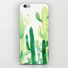 Green Cactus iPhone Skin