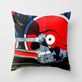 Vintage Steam Engine Locomotive Driving Wheel Eccentric And Rods Throw Pillow
