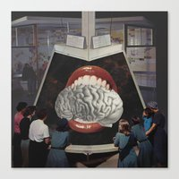 brain waves Canvas Prints featuring Brain by •ntpl•