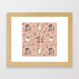 goat pattern 2 Framed Art Print