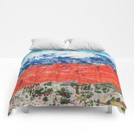 Pikes Peak Behind the Garden of the Gods Comforters