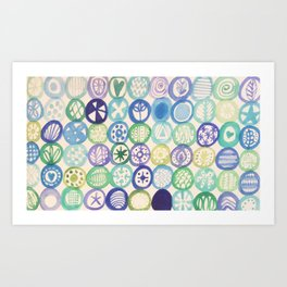 Watercolour Circles Art Print
