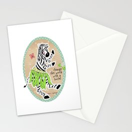 Change the World with a Smile Stationery Cards