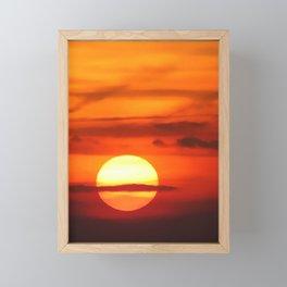 Sunset at Devil's Dyke (UK) Framed Mini Art Print