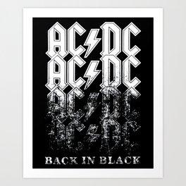 AC/DC - Back in Black Art Print