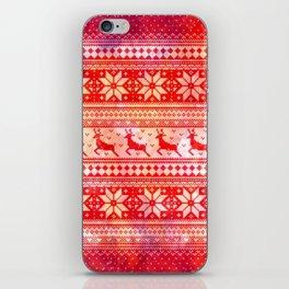 Reindeer Sweater Color Option iPhone Skin