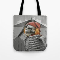 scary Tote Bags featuring scary by mayrarosito