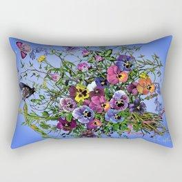 Pansy Delight Rectangular Pillow