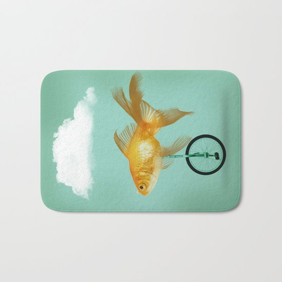 unicyle goldfish III Bath Mat