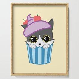 cupcake kitty Serving Tray