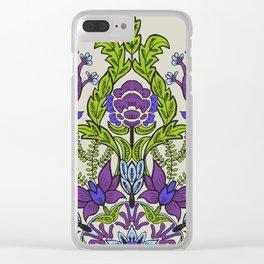 Spring Garden Mandala in Ultra Violet Clear iPhone Case