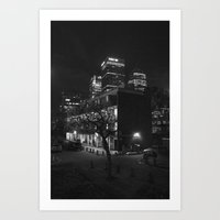 Behind Canary Wharf Art Print