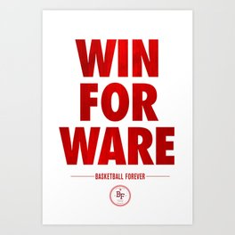 Win For Ware Art Print