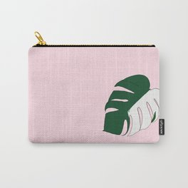 Monstera Variegata (Pink) Carry-All Pouch