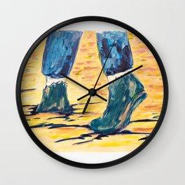 X voYages de Zed (toile 5 - série 1) Wall Clock