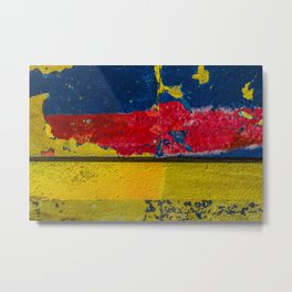 Blue, Red and Yellow Metal Print