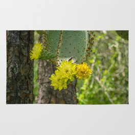 Cactus Yellow Flower Rug