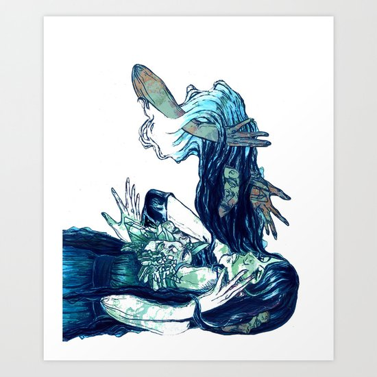 They Creep Art Print