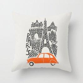 Paris Cityscape Throw Pillow