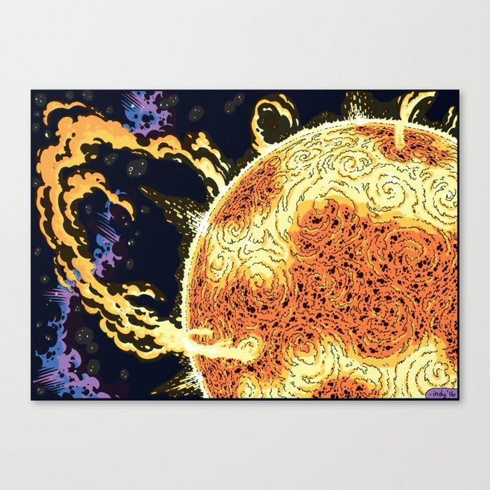 Cosmic Chaos - Solar I Canvas Print