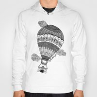 baloon Hoodies featuring Hot Air Baloon by Fill Design by mervegokdere