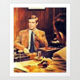 George Peppard, Vintage Actor Art Print