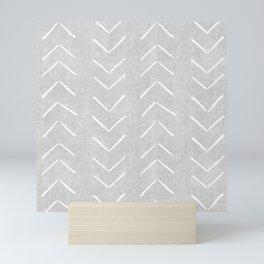 Mudcloth Big Arrows in Grey Mini Art Print